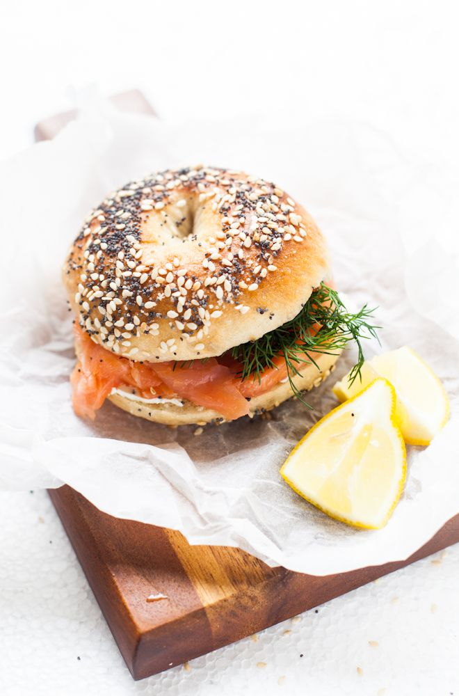 cream cheese salmon bagels
