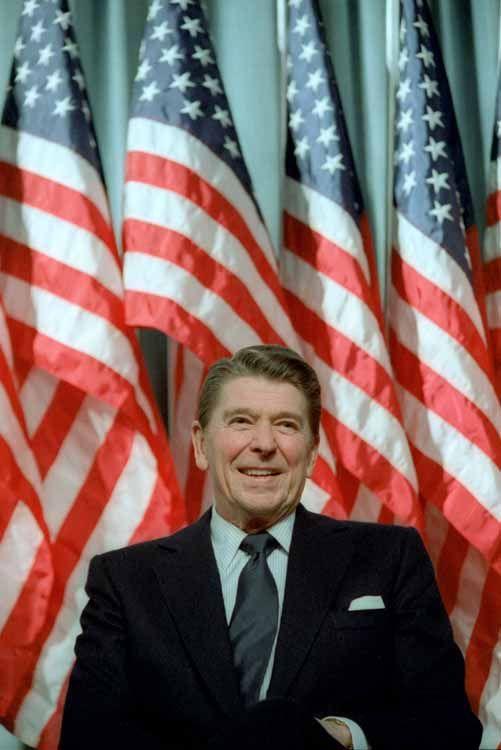 President Ronald Reagan at a Rally for Senator Durenberger in Minneapolis, Minnesota. 2/8/82.