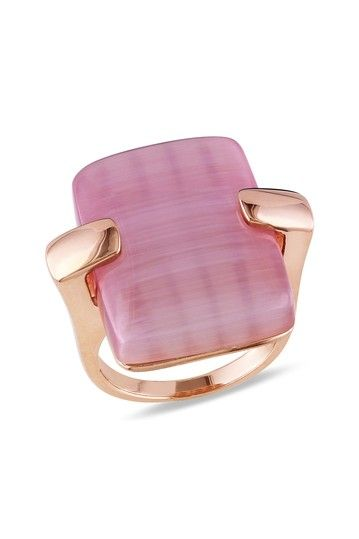 Light Purple Synthetic Cat Eye Ring by Brighten Up: Colored Jewels on @HauteLook