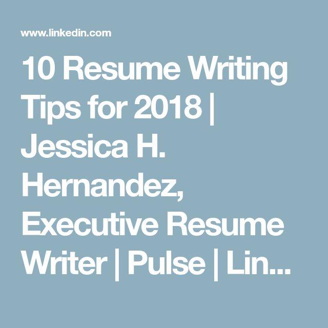 resume writing 2018