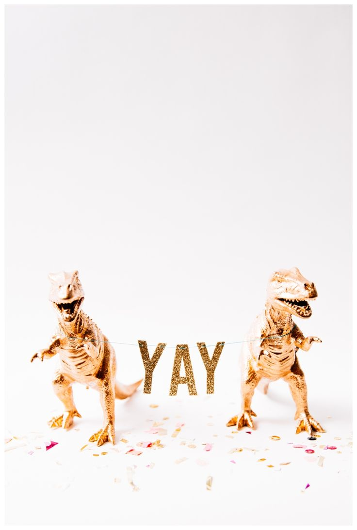 { YAY for party inclined gold dinosaurs. }