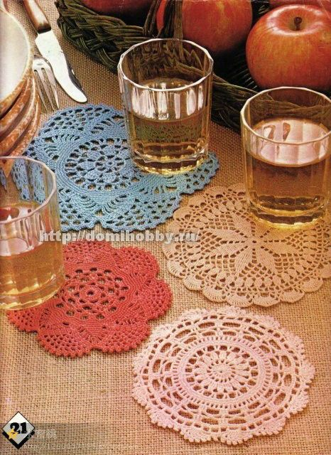 Small crochet doilies - Charted patterns