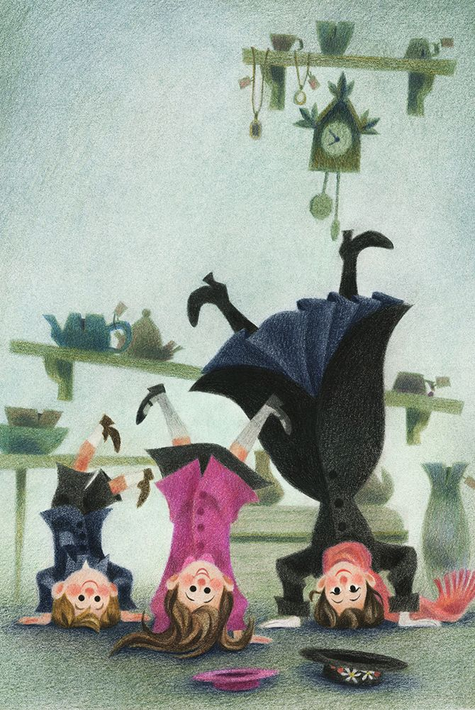"roseapetitspois: "" ""Mary Poppins comes back"" for Houghton Mifflin Harcourt -Cover 2 """