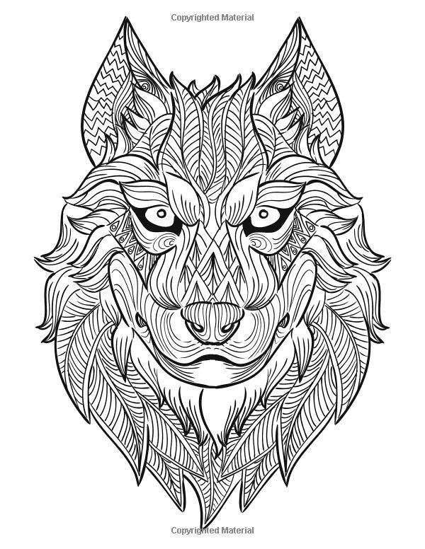 62 best loups images on Pinterest | Coloring books, Drawings and ...