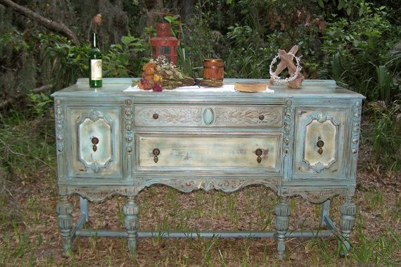 It's starting to become an obsession. I NEED one of these antique buffet tables!!!!!