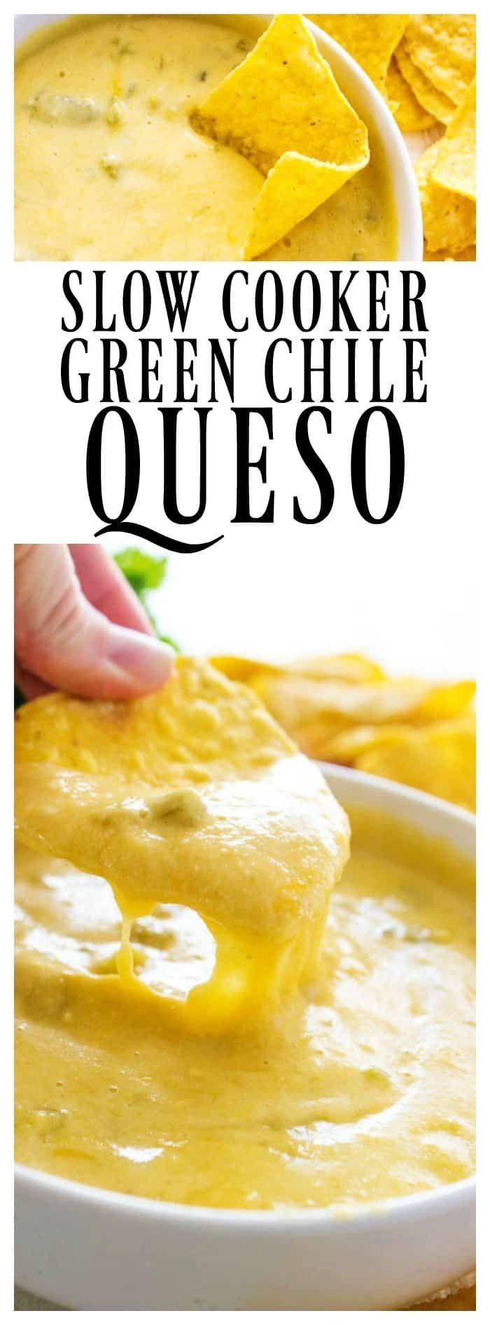 CROCK POT GREEN CHILE QUESO