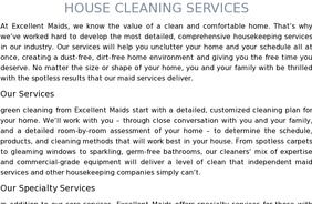 Experience Excellent Maids house cleaning services. A cleaner home is just a click away. Book online in under 60 seconds. get the cleaning you've been looking for.