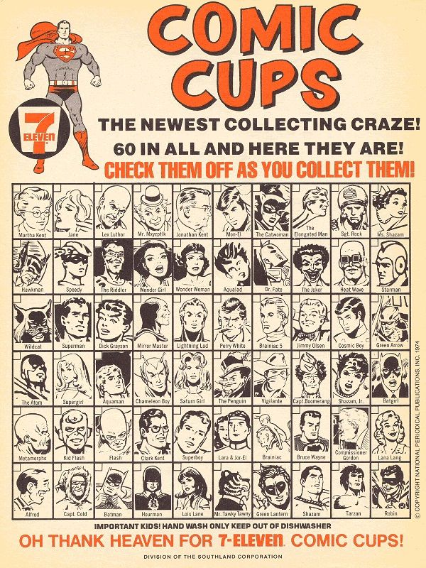 Welcome back to another Fabulous Find! This week I've gone deep into my basement and uncovered some of the 7-Eleven Slurpee cups, featuringD C Comics' characters from 1973! The cups …