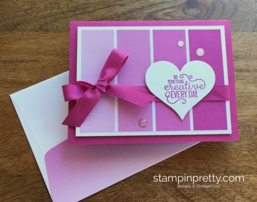 Color Theory Designer Series Paper Stack & Crafting Forever stamp set friendship card created by Mary Fish, Stampin' Up! Demonstrator.  1000+ StampinUp & SUO card ideas.  Read more https://stampinpretty.com/2017/05/wow-video-color-blocking-designer-series-paper.html