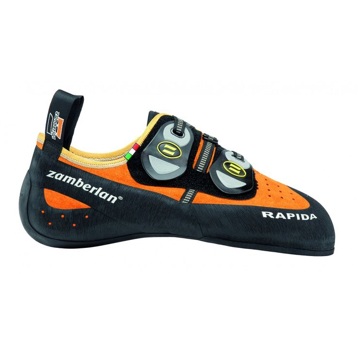 A80 RAPIDA NEW - The perfect combination between fit and performance. Multi-directional Velcro closure for maximum fit customization. Enlarged tape closure to enhance fit. Wide rubber toe to increase grip in extreme situations. Vibram® branded outsole. #zamberlan #climbing #rapida #discoverthedifference