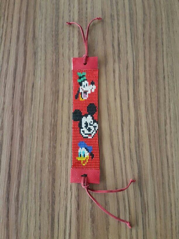 Mickey mouse daffy duck donald duck loom bead bracelet pattern
