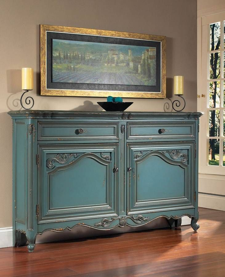 furniture painted cabinet painted buffet blue painted furniture