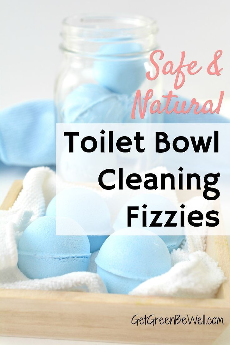 Easily clean the grossest place in your home! These DIY toilet bombs use all natural ingredients to safely clean the to…