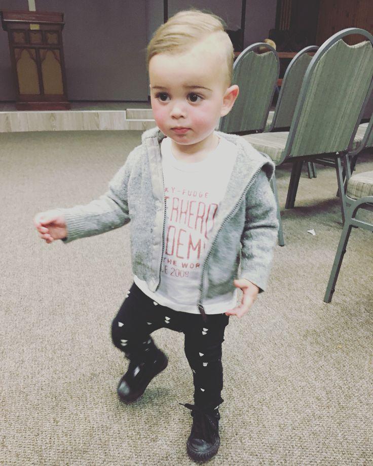 Boy fashion. Toddler boys. Combover.