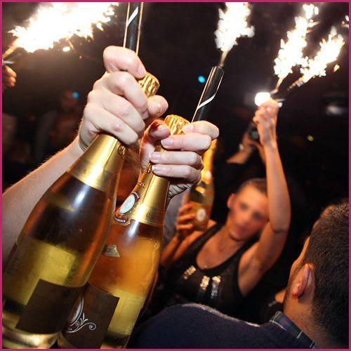 Champagne Bottle Sparklers 2