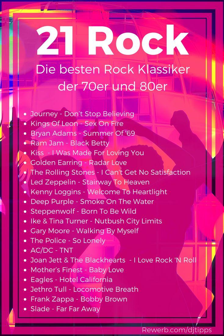 21 Rock-Klassiker mit den besten Songs der #70er und #80er  Hier findest du Rockmusik von Deep Purple, AC/DC, Jethro Tull bis Journey und Joan Jett  #Rock #Klassiker #Partysongs