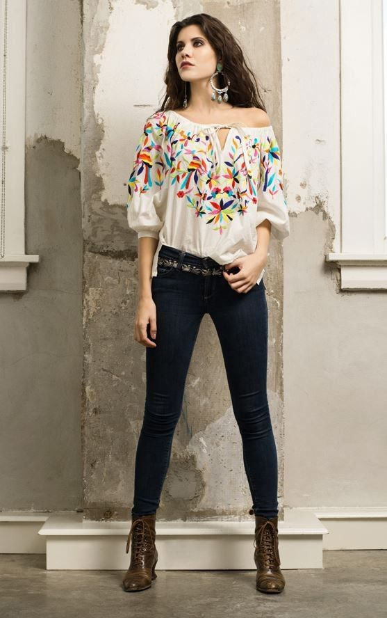 Roja Collection Spring 2015 Otomi Embroidered Top! http://www.cowgirlkim.com/roja-collection-spring-2015-otomi-embroidered-top.html