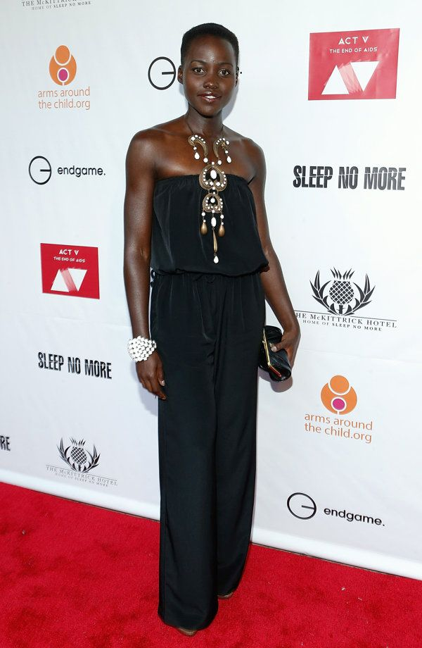 Lupita Nyong'o in stunning statement jewelry.