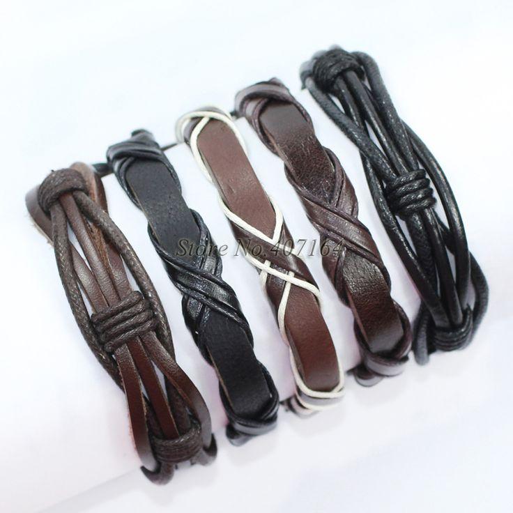 Купить Fl155 5 шт. упаковка браслеты черный и коричневый браслет ручной плетеные из натуральной кожи браслет мужчины Pulseira Masculina бесплатная доставка и другие товары категории Браслеты-талисманы в магазине SunFlower Trade Co.,Ltd на AliExpress. браслет флешки и браслет ч