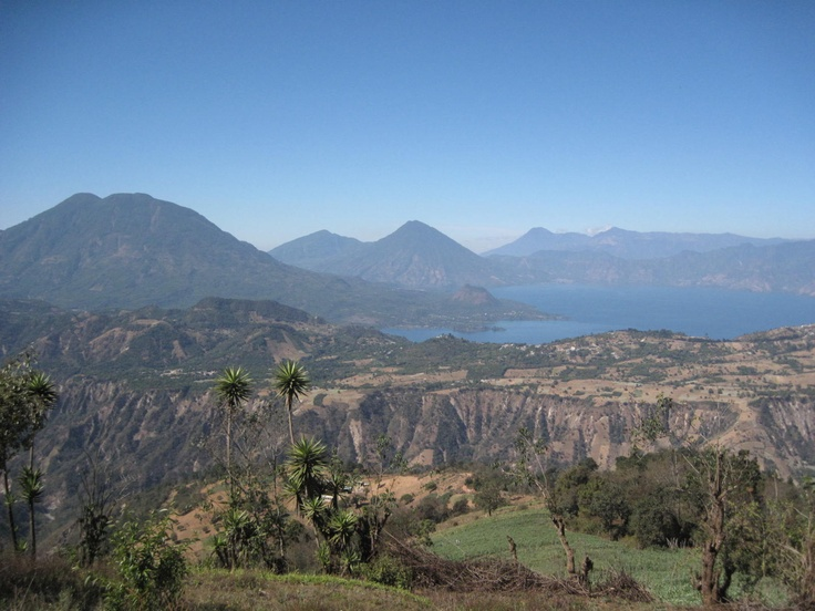 background 3 volcanoes and Lake Atitlan, lost paradise.: Favorites Places, Favorite Places