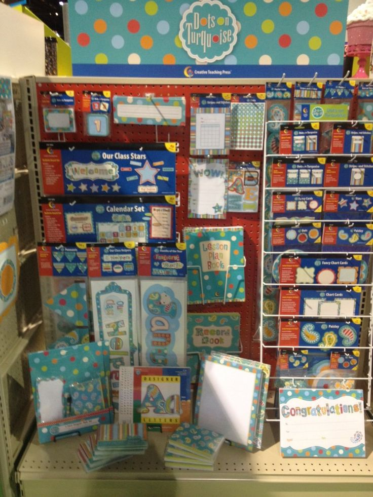 Turquoise Classroom Decor : Dots on turquoise one of each please school