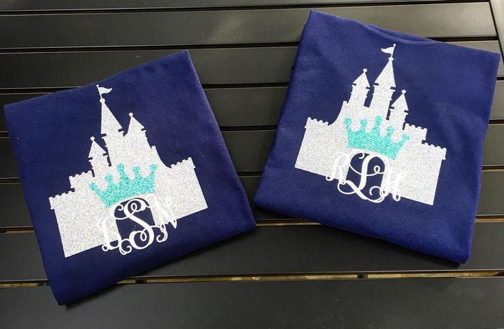 Perfect castle shirts for your trip to Disney! $22 #monogrammit #monograms #disney
