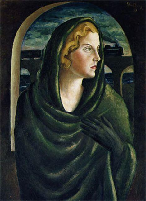 Donna ammantata, ritratto di Topazia di Renato Guttuso, Palermo 1931, Collezione Privata