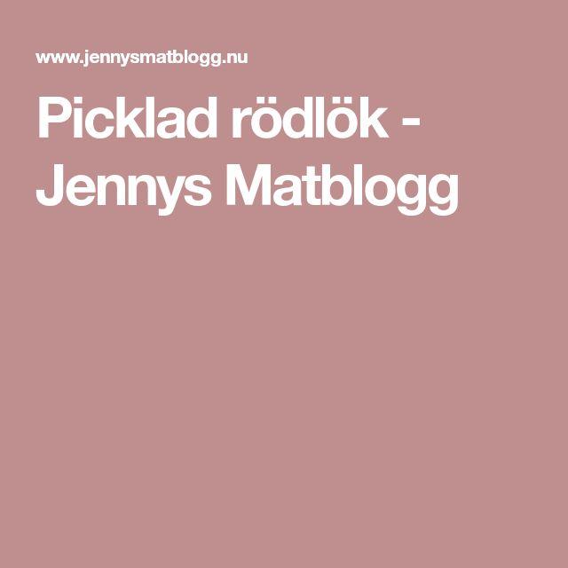 Picklad rödlök - Jennys Matblogg
