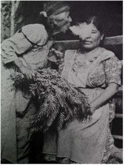 When performing a healing on someone the Curandera will often sweep the aura/energy field with sacred herbs and blow smoke on the individual....This can clear the negativity or entities that are causing the ailment.