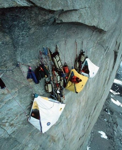 Camping like this.