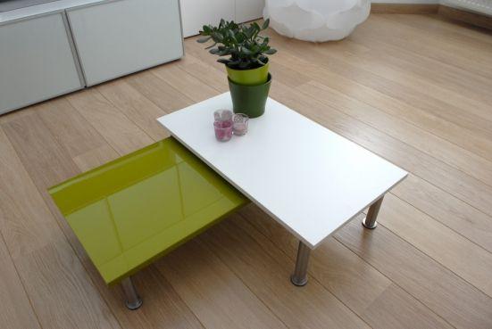 Deur + poten > salontafel