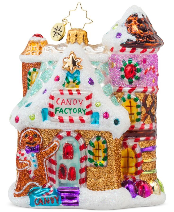 GINGERBREAD HOUSE~Christopher Radko Sweet Factory Ornament