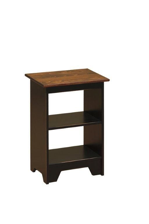 Amish Pine Wood Small Open End Table