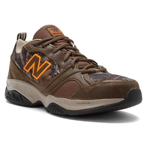 Mens New Balance Shoes MX623v2 Dk Tan Leather Camo Orange