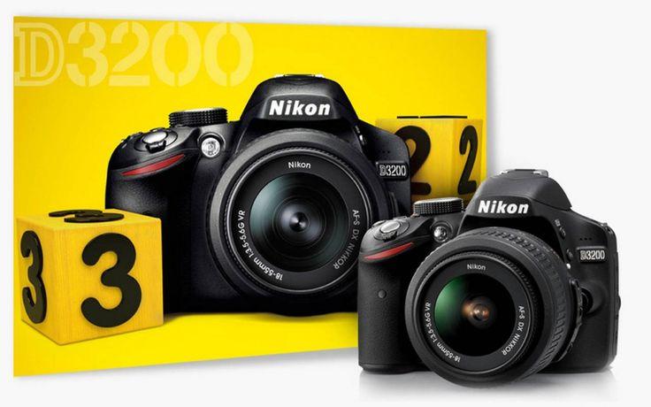Nikon D3200, una wireless da 24 megapixel.     Annunciata ufficialmente la nuova entry level: 12800 ISO in espansione Hi1 e una velocità di scatto continuo di 4 fps, grazie al processore d'immagine Expeed 3. Filmati full HD