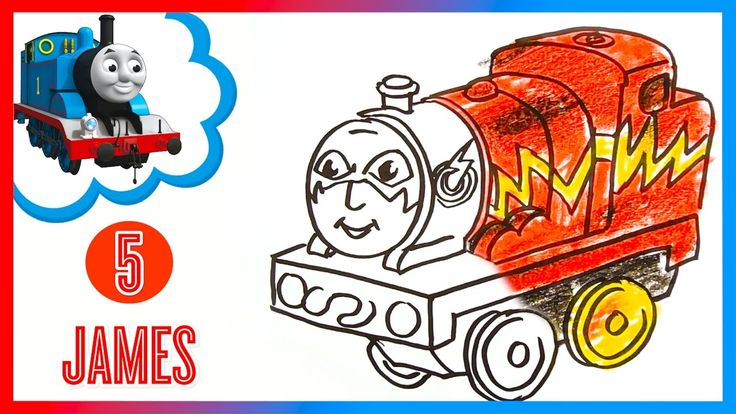 how to draw thomas the train step by step