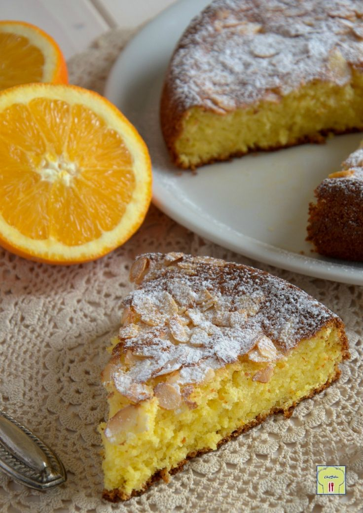 Almond cake and oranges - torta di mandorle e arance gp