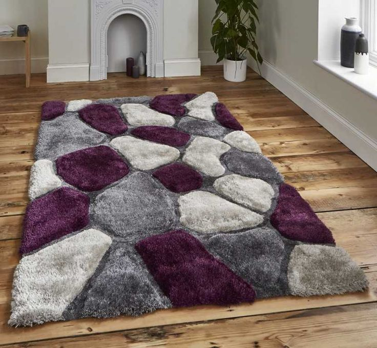 Noble House NH-5858 Grey / Purple Rugs | Modern Rugs