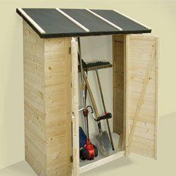 Abri de jardin en bois traité adossable range outils