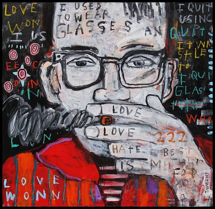 Troy Henriksen - I used to wear glasses but I quit - Acrylique et mixte sur toile - 150 x 150 cm - 2014 - Galerie W - Galerie d'Art contemporain à Paris #galeriew @Galerie W Eric Landau #troyhenriksen #artcontemporain #galeriedartcontemporain #contemporaryartgallery #theplacetobe #parisfrance #contemporaryart #paris #france #europe #monde #univers #ericlandau #isabelleeuverte
