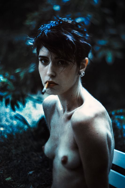 Blue portrait - Matthieu Soudet Photography