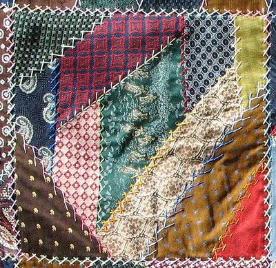 Something to make out of all of my dad's old silk ties: a crazy quilt.