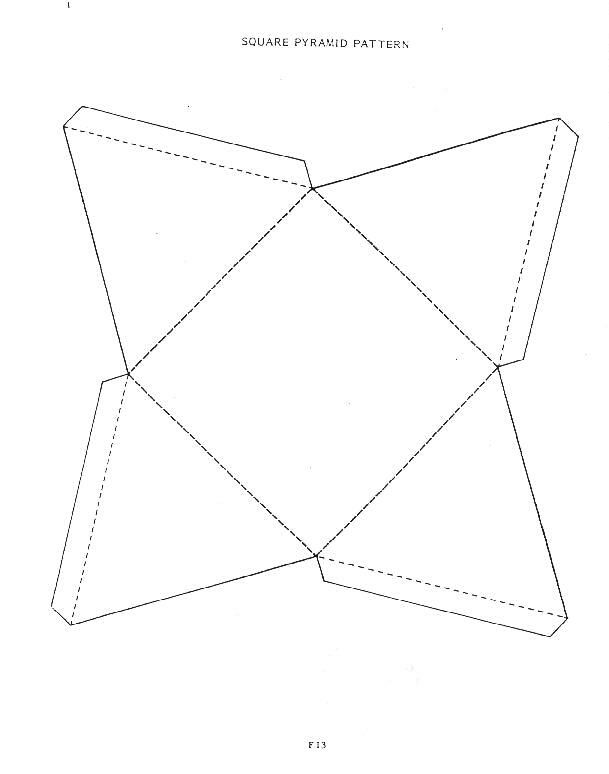 8 best Paper pyramids images on Pinterest Bricolage, Bible - pyramid template