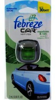 Febreze Car Vent Clip Meadows & Rain Case Pack 8