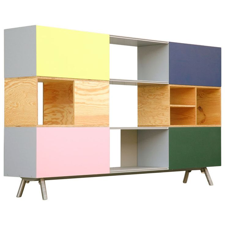 """Germany  Early 21st Century  """"Kast,"""" shelving/wall unit/room divider with multicolored panels-one of the last examples of the legendary Belgian designer Maarten Van Severen (1956-2005) for Vitra, 2005.  price $11500.00"""