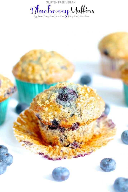 Gluten Free Vegan Flaxseed Blueberry Muffins Recipe Vegan