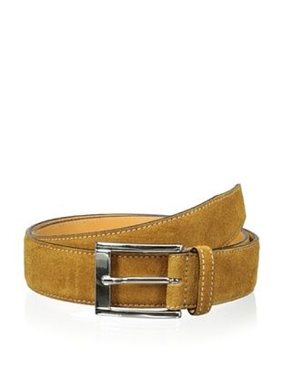 59% OFF Leone Braconi Men's Velour Z Suede Belt (Ruggine)