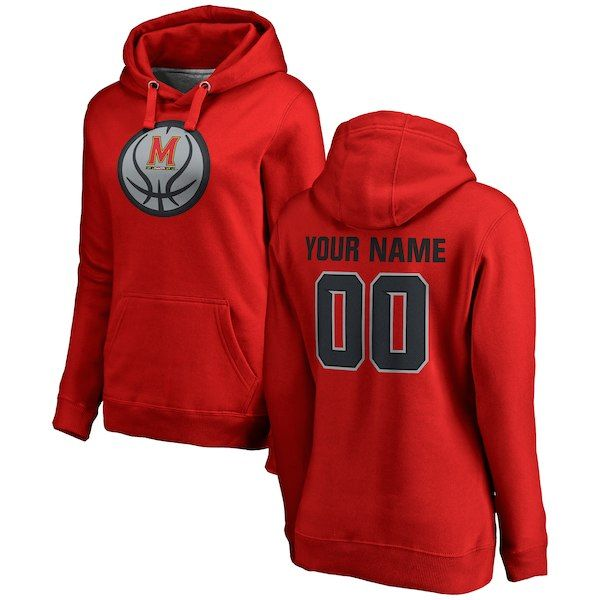 b5bdee21a8e Maryland Terrapins Fanatics Branded Women's Game Ball Basketball  Personalized Any Name & Number Pullover Hoodie Red #MarylandTerrapins