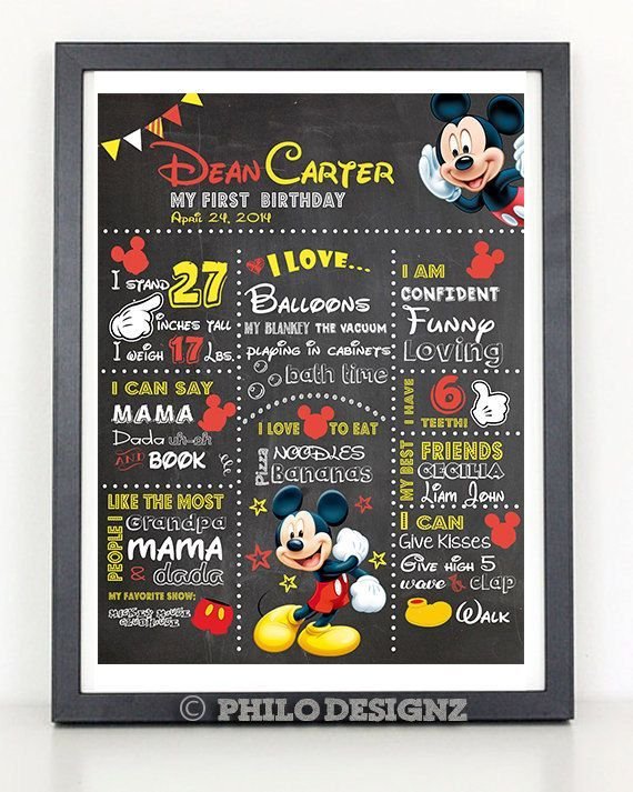 First Birthday Stats Template mickey mouse - Yahoo Image Search Results