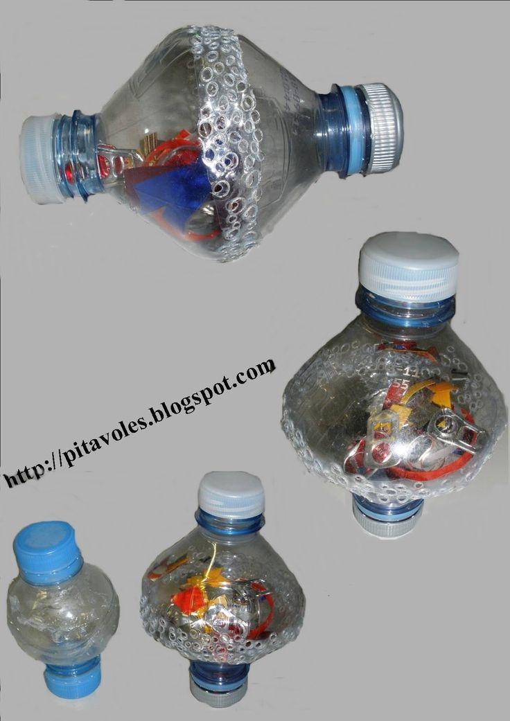 pitavoles: Maraques amb ampolles d'aigua
